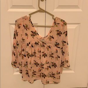 Abercrombie & Fitch Pink floral blouse